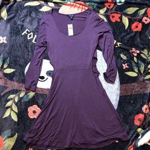 AE Dress Soft & Sexy purple cutout dress